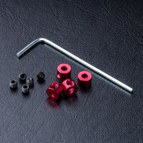 Alum. stabilizer rod stopper (red) (4) - MST-820067R