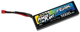 Аккумулятор Peak Racing Power Plant Lipo 5000 14.8V 45C (Black case, Deans Plug) 12AWG - PEK00555